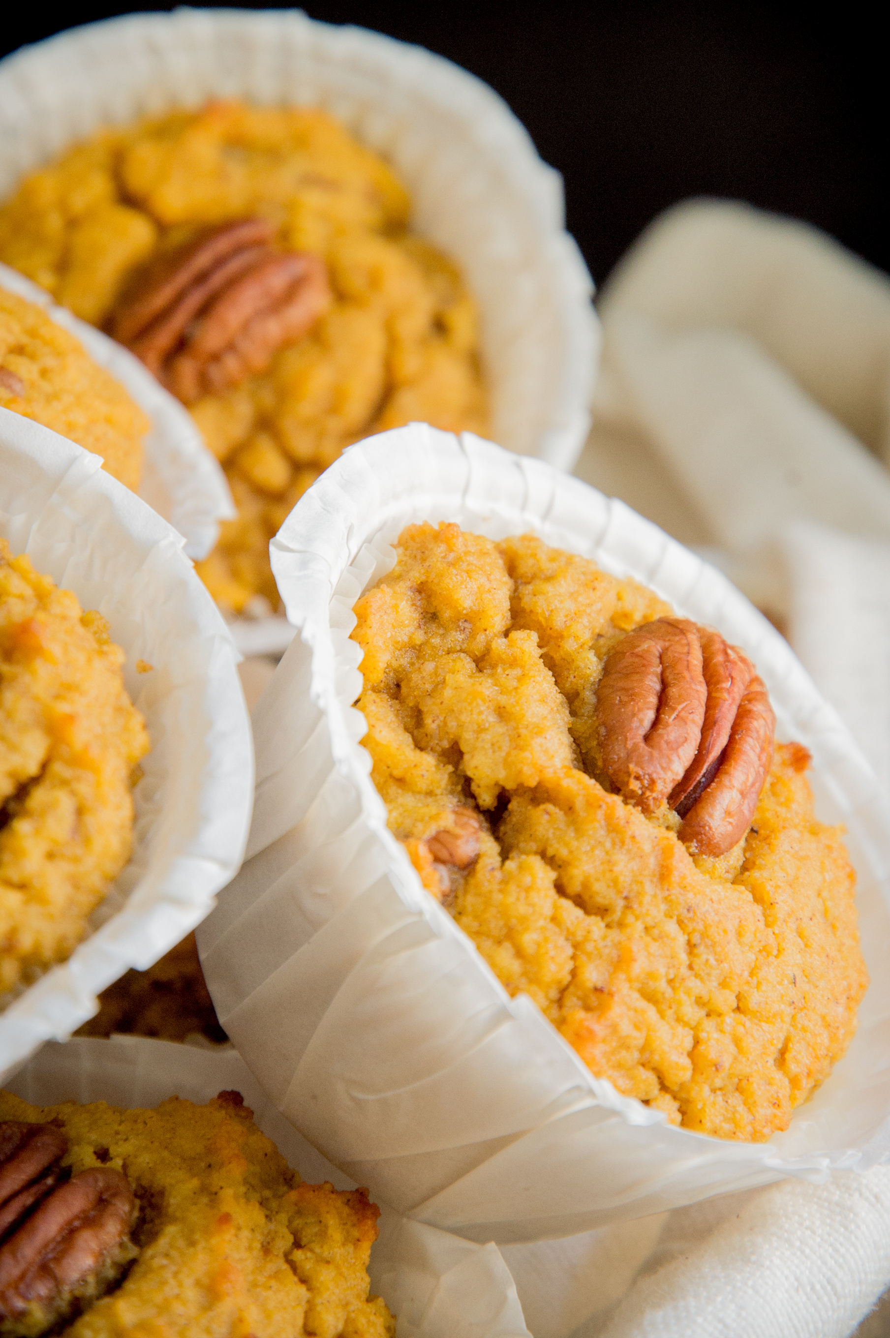 Low Carb Pumpkin Spice Muffins-close up