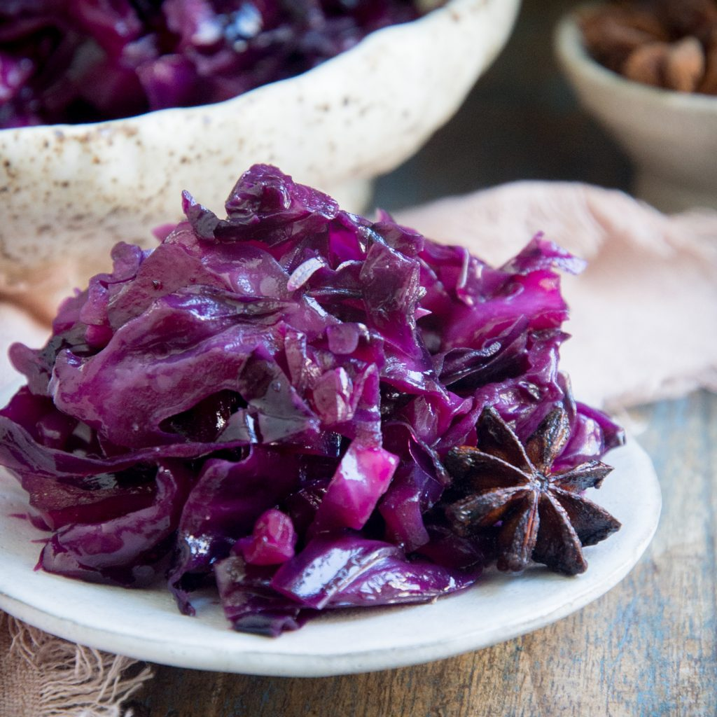 Low-Carb Sweet and Sour Red Cabbage-final process image.