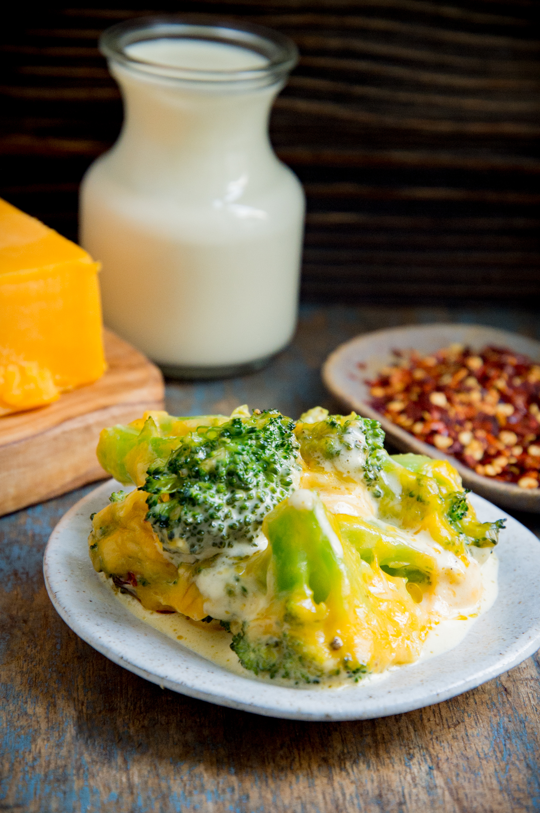 Low-Carb Keto Broccoli Cheese Casserole-served on a plate.