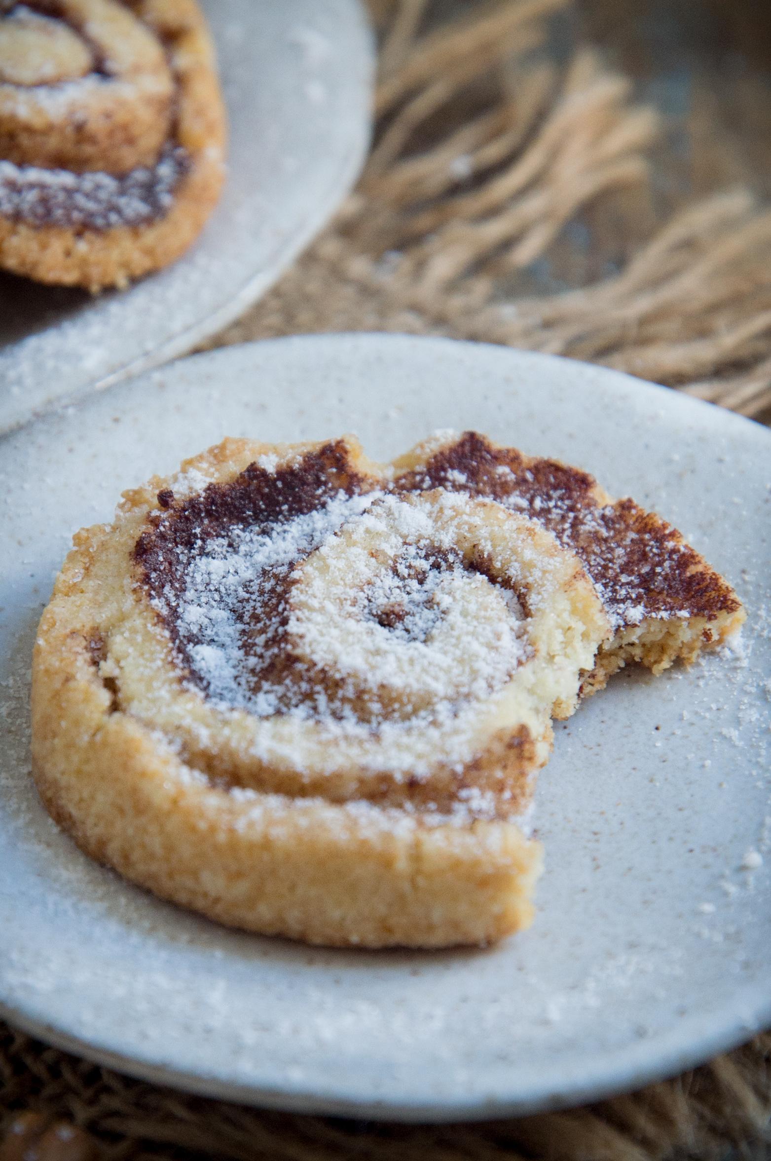 Keto Cinnamon Shortbread Cookies-Bite shot.