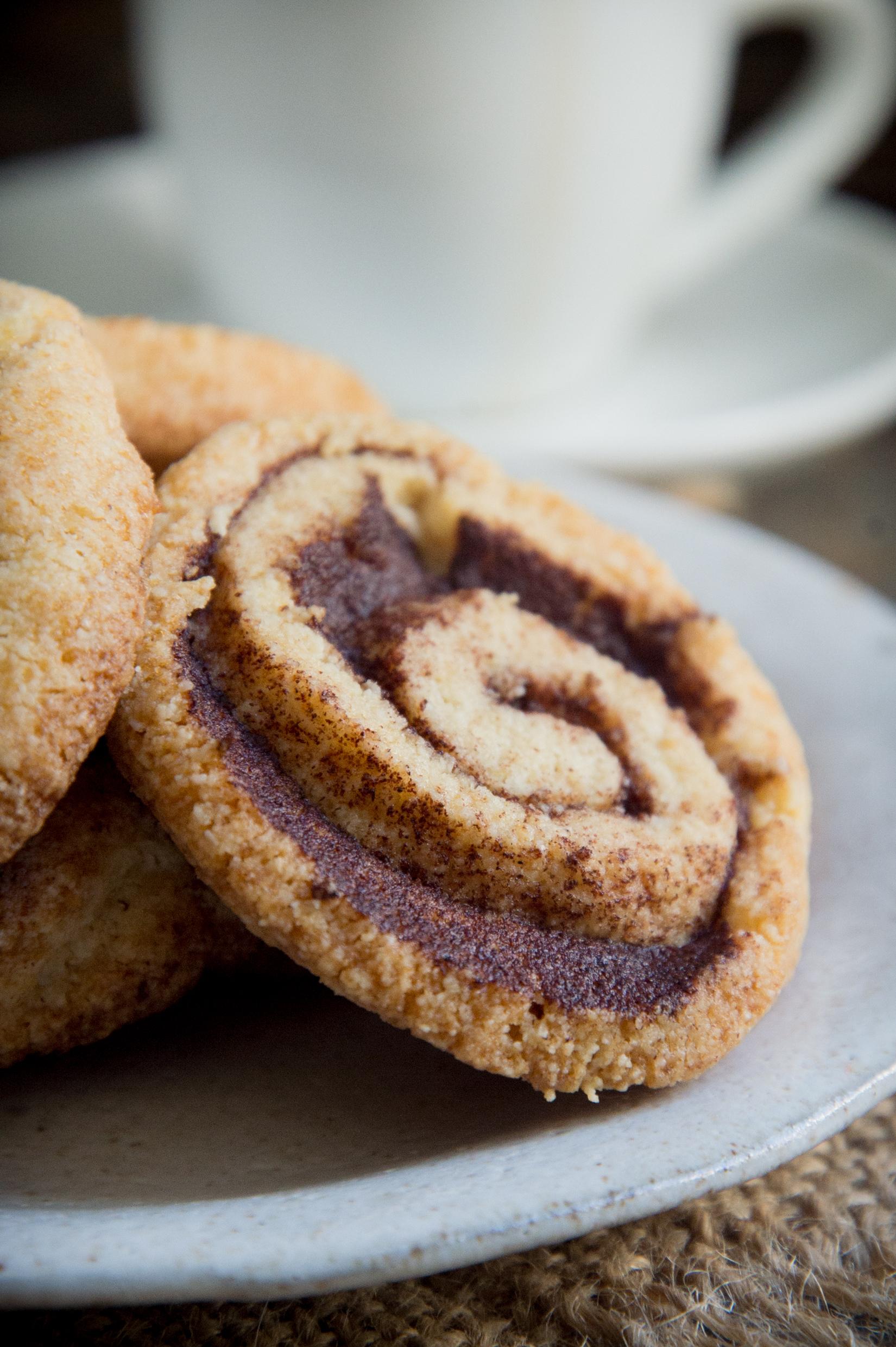 Keto Cinnamon Shortbread Cookies-Before sprinkling with sugar.