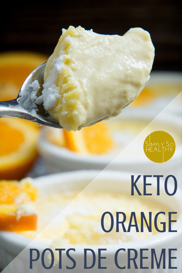 This recipe for Low-Carb Orange Pots de Crème makes rich orange-vanilla custards. These custards make an easy, elegant, and delicious dessert for those on low-carb, keto, Atkins, grain-free, and gluten-free diets.