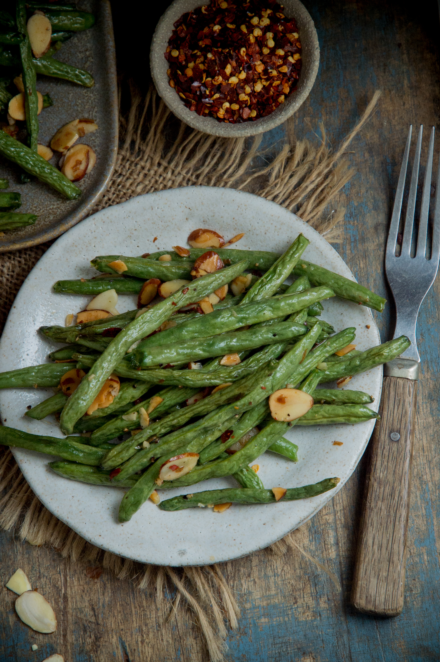 Low-Carb Roasted Green Beans-Ready for eating.