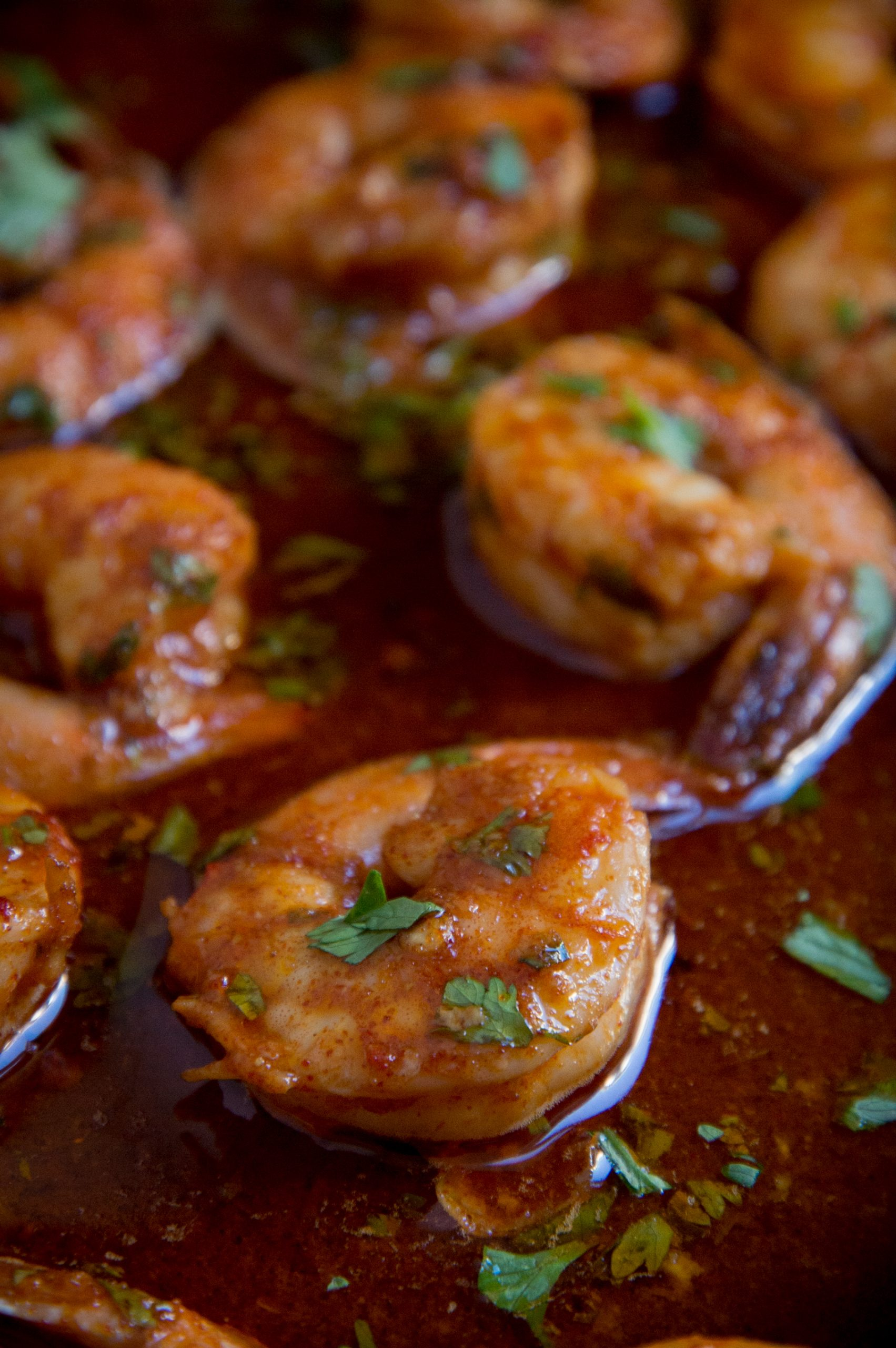 Low-Carb Spicy Baked Shrimp-fresh from the oven.