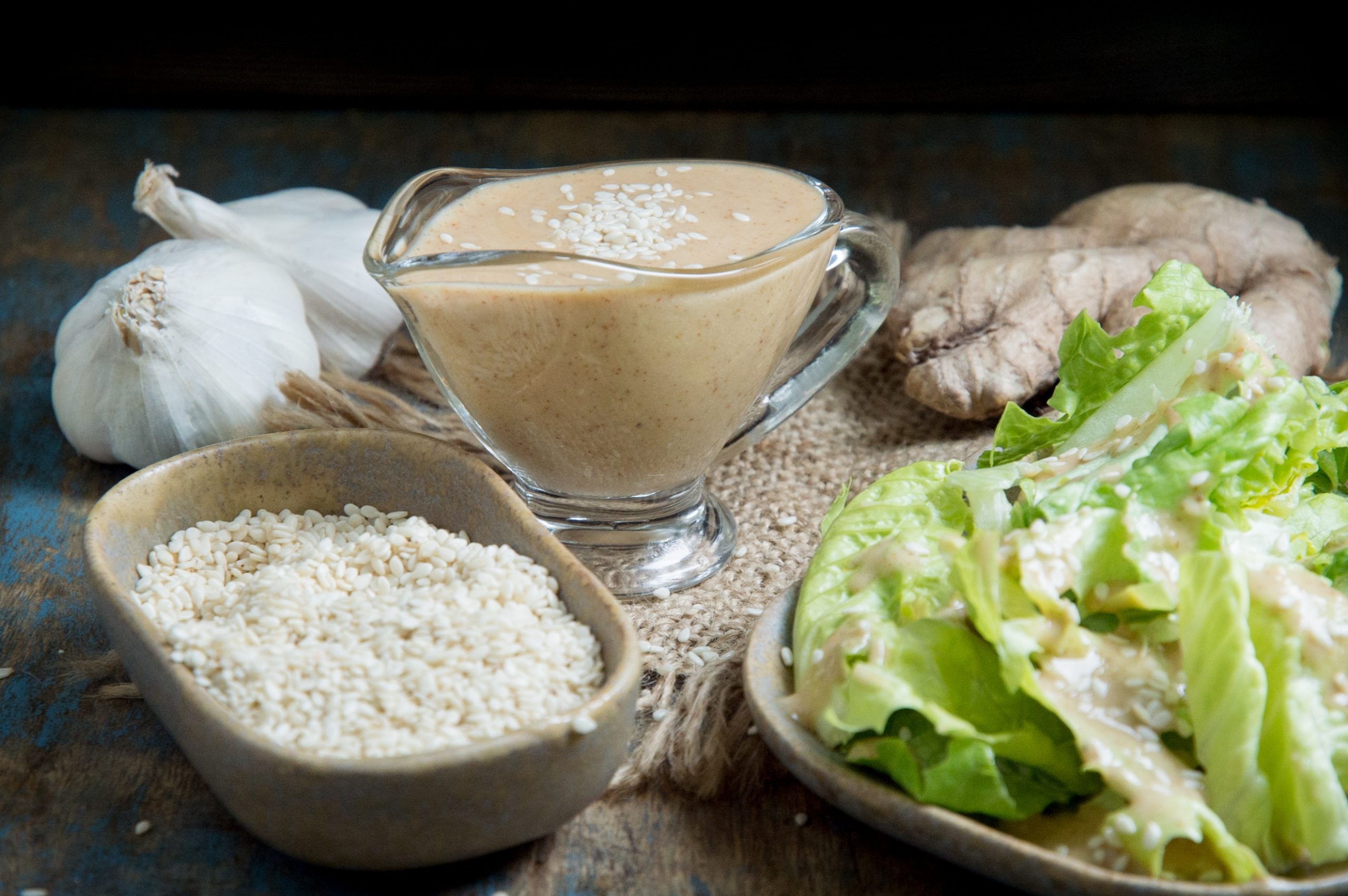 Low-Carb Sesame Ginger Dressing