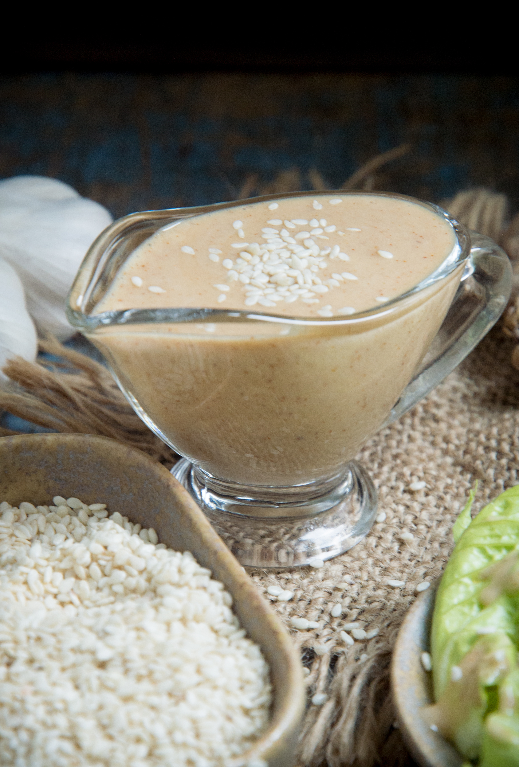 Photo of Low-Carb Sesame Ginger Dressing on a bowl