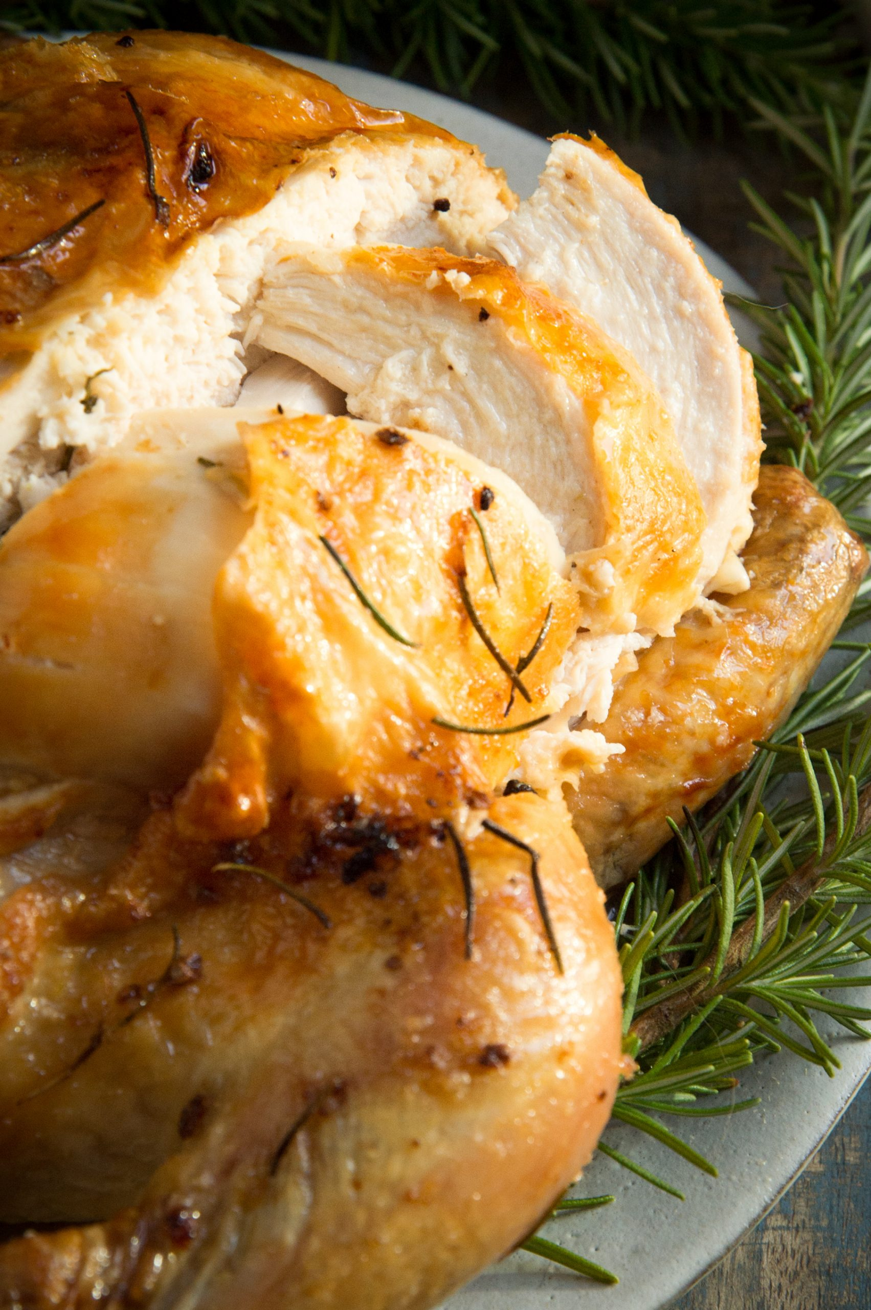 Garlic Rosemary Rosted Chicken Carved