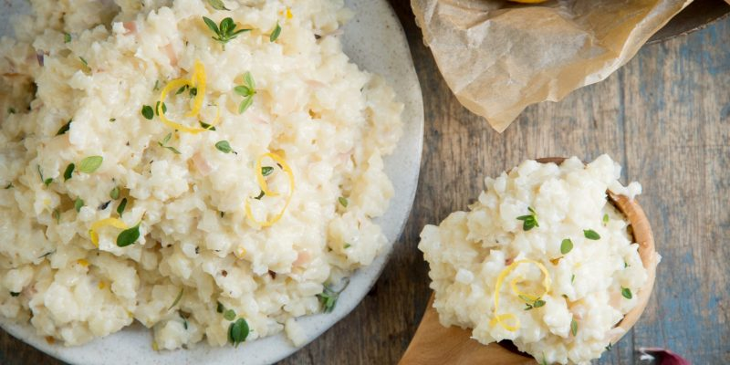 Keto Cauliflower Risotto (Low-Carb)