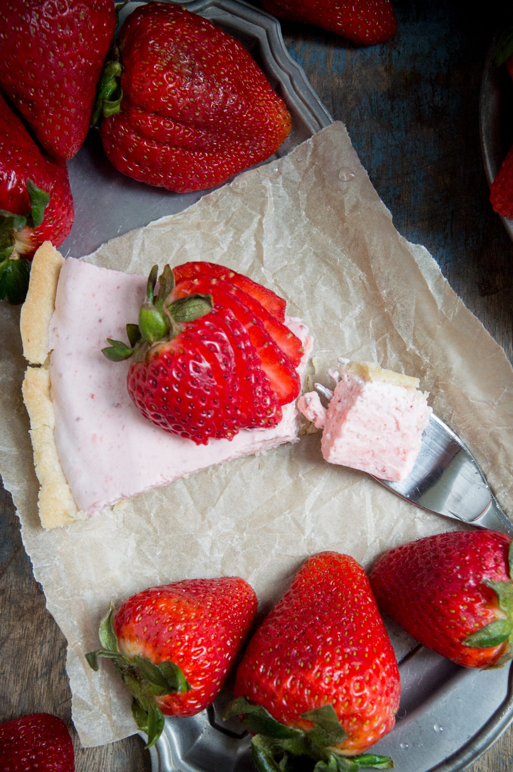 Keto Strawberry Cream Pie recipe