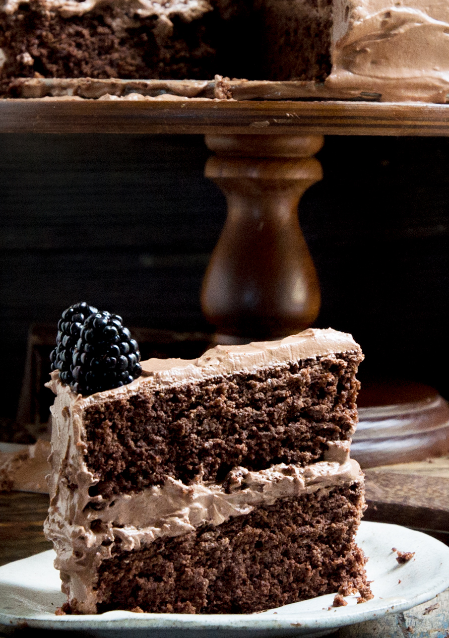 Slice of cake on a plate