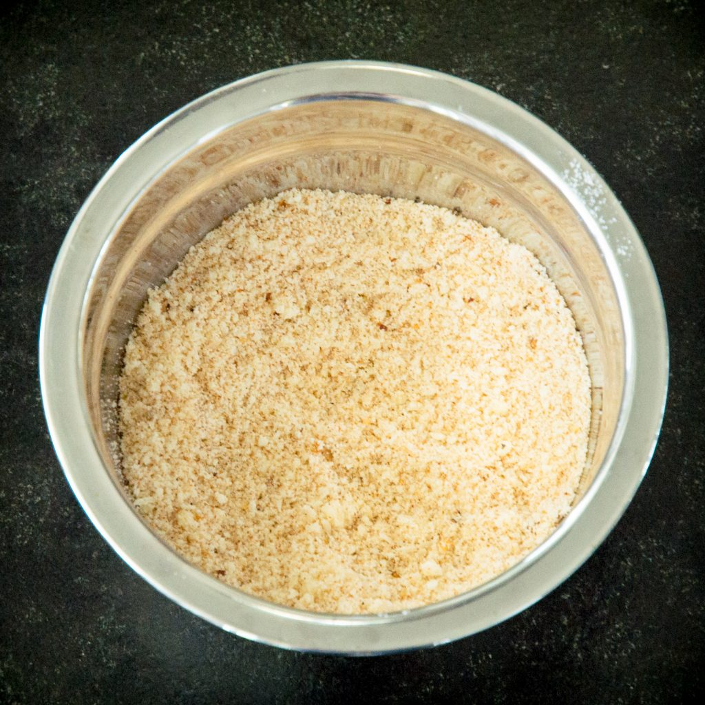 Process photo of the breading mixture.