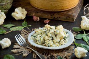 Plate of Keto Spinach Artichoke Casserole
