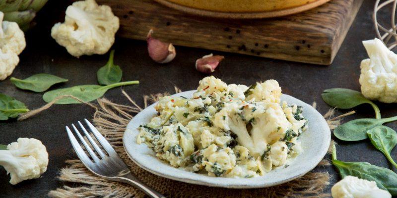 Keto Spinach Artichoke Casserole