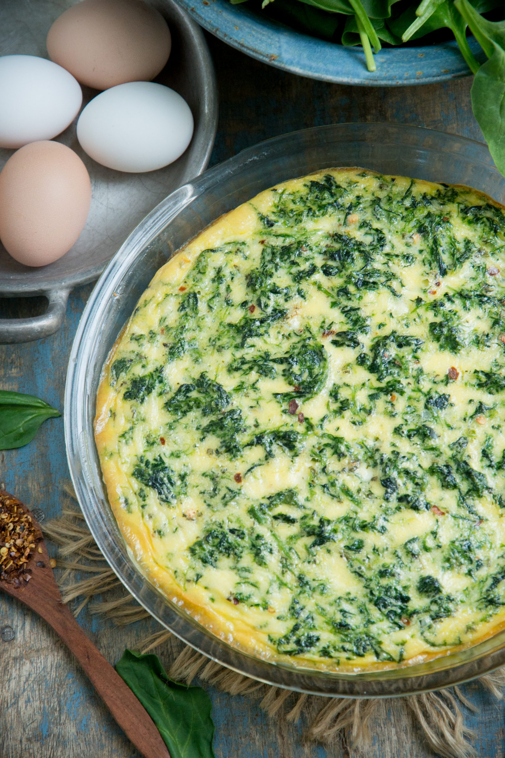 Crustless Spinach Quiche Low Carb And Keto Simply So Healthy