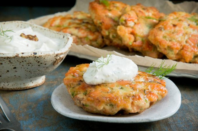 Keto Salmon Cakes With Mustard Dill Sauce