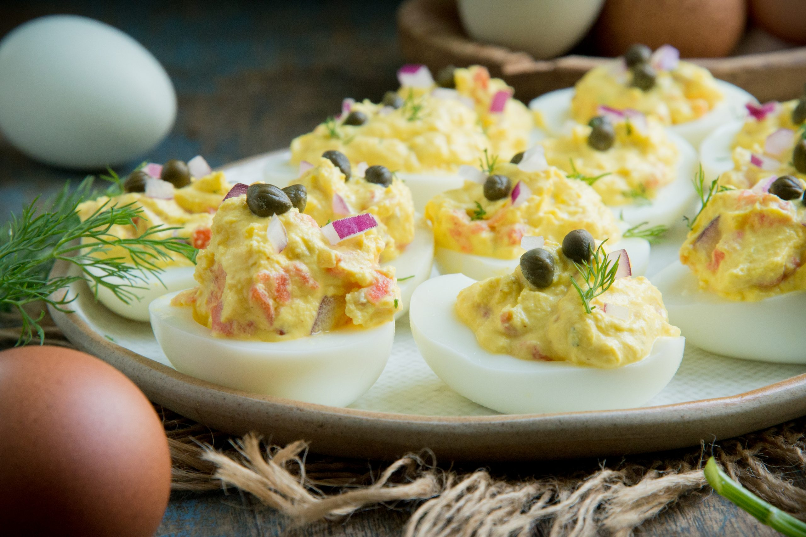 Smoked Salmon Deviled Eggs (Keto | Low-Carb)