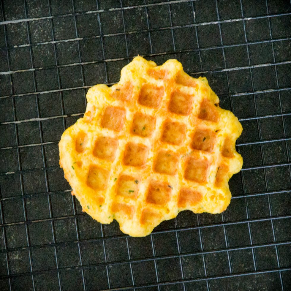 Cooling the chaffle.