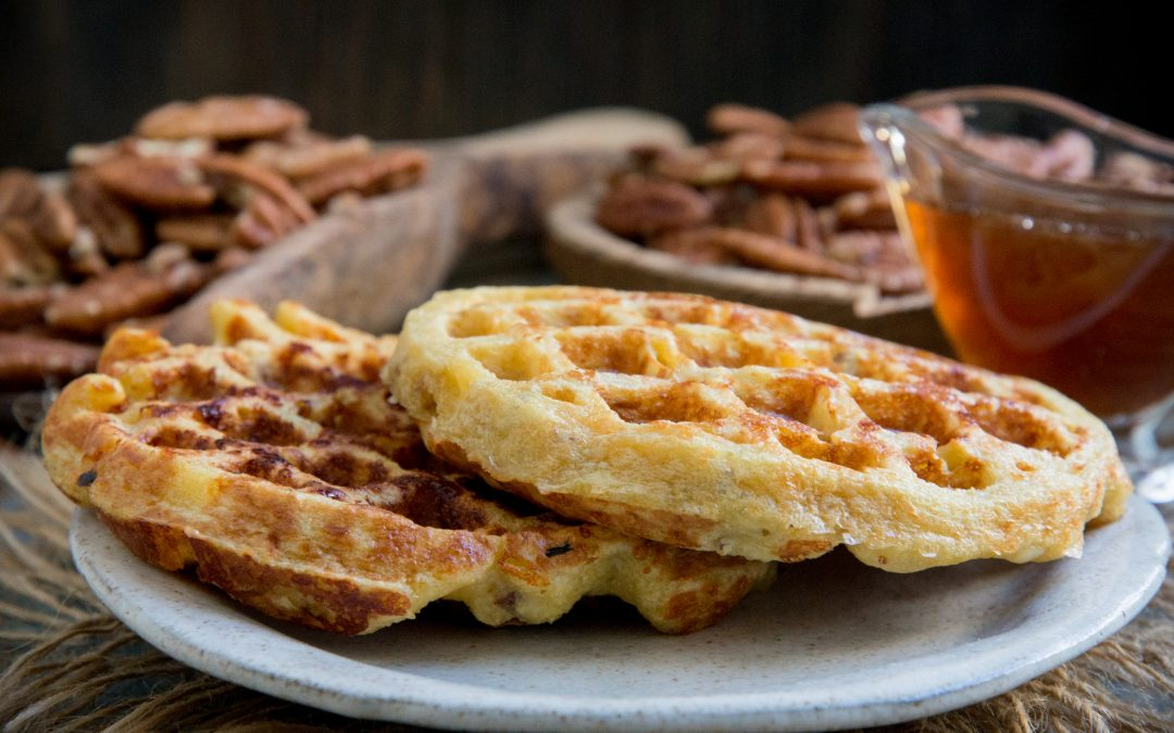 Low-Carb Maple Pecan Chaffles (Keto Friendly)