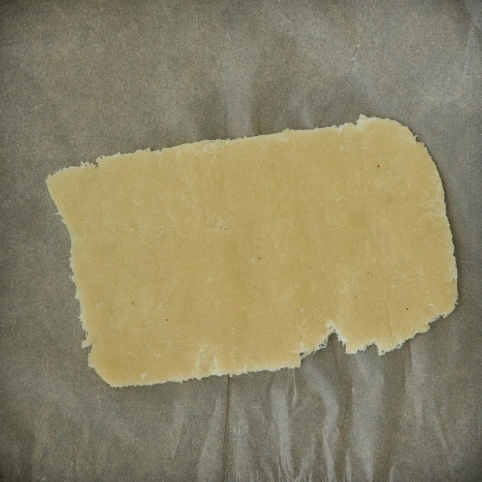 The rectangle of dough.