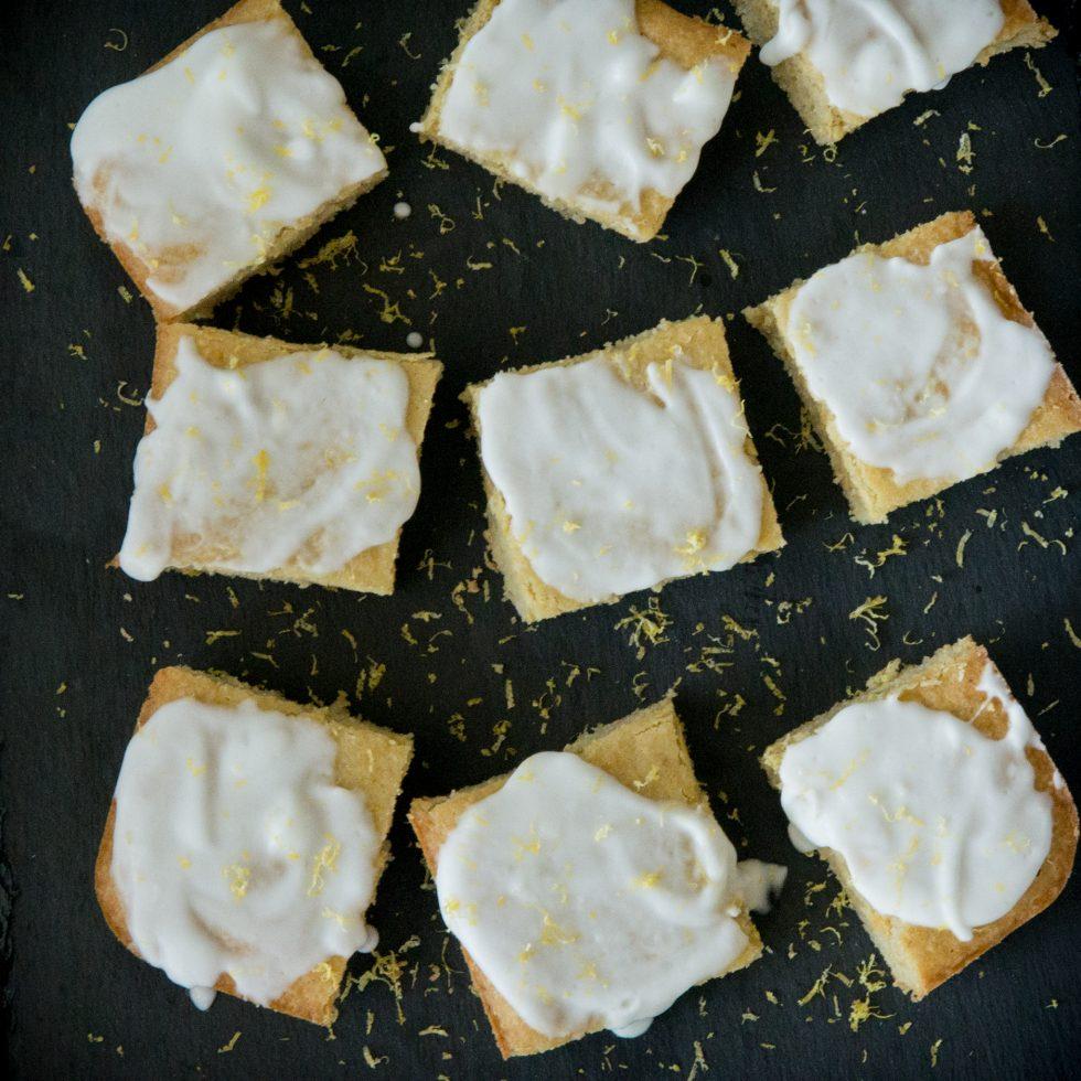 Completed Keto Lemon Cake.