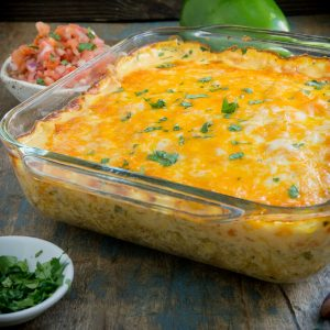 Keto Mexican Chicken Casserole before serving.
