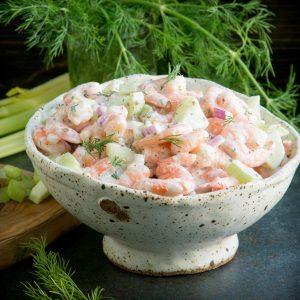 Creamy, Keto Shrimp salad.