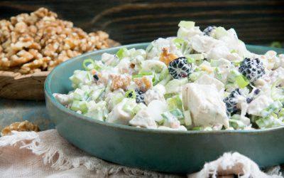 Blackberry Walnut Chicken Salad (Keto | Low-Carb)