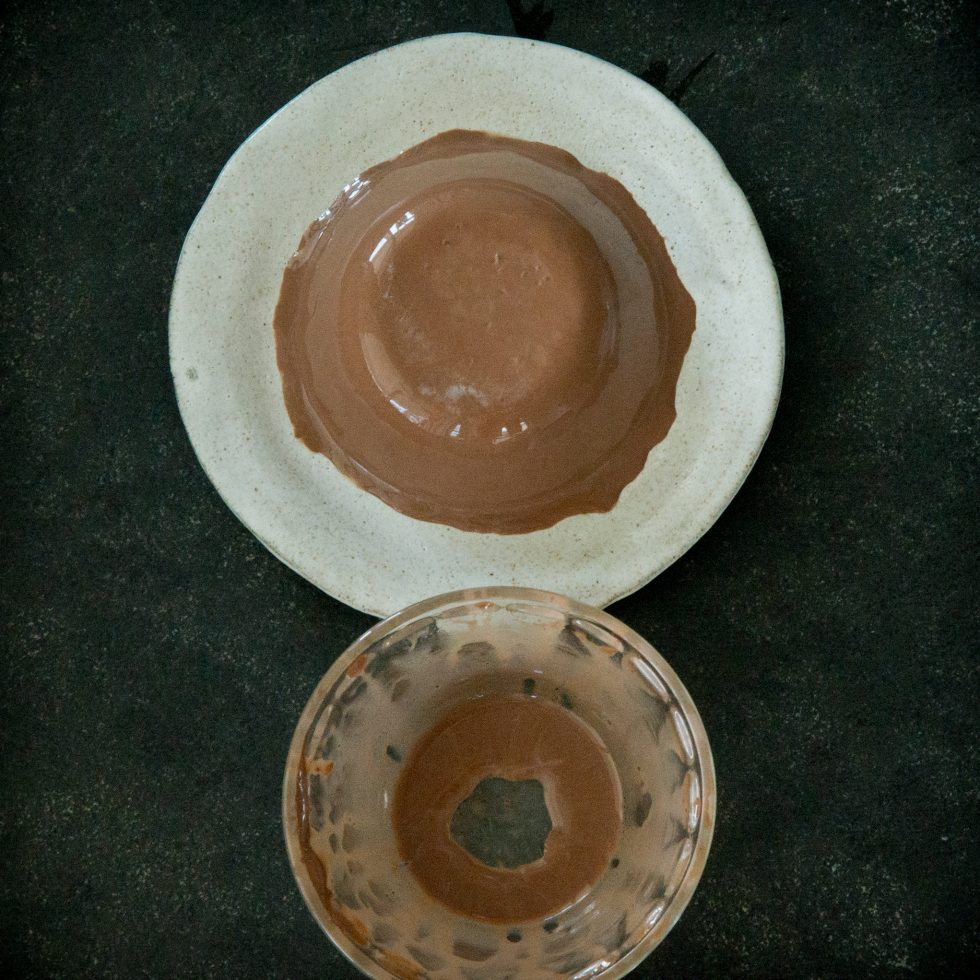 Plated Chocolate Panna Cotta.