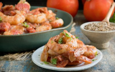 Spicy Shrimp and Tomatoes (Low Carb | Keto)